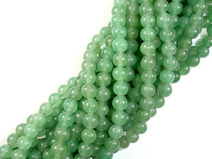 Green Aventurine Beads, Round, 6mm-BeadBasic
