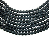 Matte Black Onyx Beads, Round, 10mm-BeadBasic