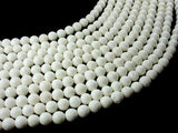 White Sponge Coral Beads, Round, 8mm (7.8mm), 15.5 Inch
