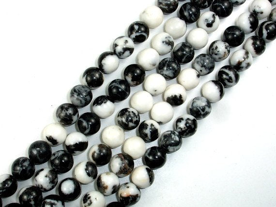 Zebra Jasper Beads, Round, 10mm(10.5mm)-BeadBasic