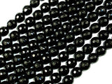 Black Onyx Beads, Faceted Round, 8mm-BeadBasic