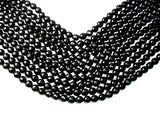 Black Onyx Beads, Faceted Round, 10mm-BeadBasic