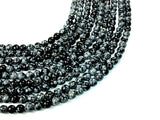 Snowflake Obsidian Beads, Round, 8mm (8.5mm), 15.5 Inch