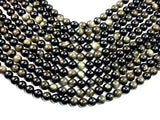 Golden Obsidian, Round, 10mm beads-BeadBasic
