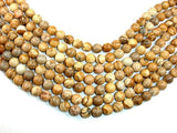 Picture Jasper Beads, 10mm Round Beads-BeadBasic