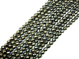 Pyrite Beads, Faceted Round, 8mm-BeadBasic