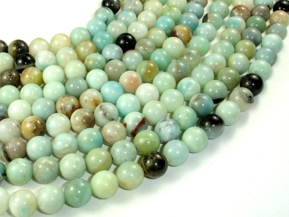 Amazonite, Round beads, 10mm ( 10.5 mm)-BeadBasic