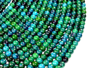 Chrysocolla , 6mm(6.5mm) Round Beads, 15.5 Inch, Full strand