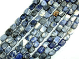 Sodalite Beads, Nugget, 6 x 9 mm-BeadBasic