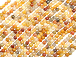 Crazy Lace Agate Beads, Round, 2mm, 16 Inch