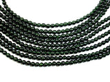 Green Goldstone Beads, Round, 4mm-BeadBasic
