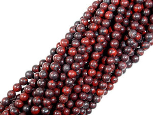 Brecciated Jasper Beads, Round, 4mm-BeadBasic