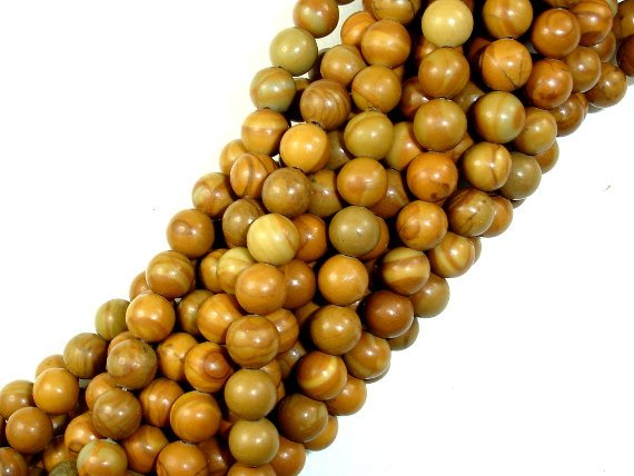 Wood Jasper Beads, Round, 6mm ( 6.3mm)-BeadBasic