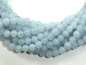 Blue Chalcedony Beads, Blue Lace Agate Beads, Round, 4mm-BeadBasic