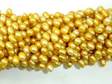 Fresh Water Pearl Beads, Gold, Top drilled, Dancing