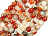 Agate Beads, Faceted Round, 12mm, 15.5 Inch