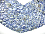 Blue Spot Jasper Beads, Twisted Rectangle, Approx 15 x 20mm, 15.5 Inch