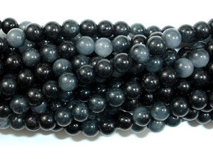 Dyed Jade Beads, Round, 4mm-BeadBasic