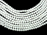 White Jade Beads, Round, 6mm (6.3mm), 15 Inch