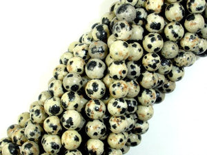 Dalmation Jasper Beads, Round, 6mm-BeadBasic