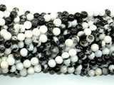Zebra Jasper Beads, Round, 4mm (4.5 mm)-BeadBasic