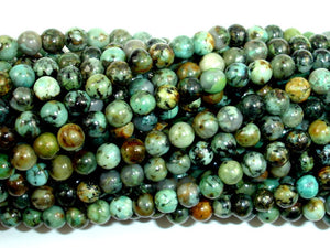 African Turquoise Beads, Round, 4mm (4.5mm), 15 Inch