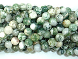 Tree Agate Beads, Round, 8mm-BeadBasic