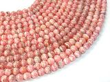 Rhodochrosite Beads, Round, 5mm-BeadBasic