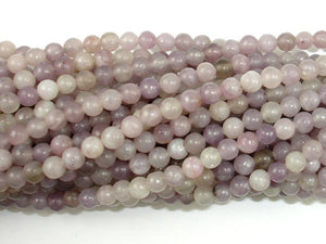 Lilac Jasper Beads, Pink Tourmaline Beads, Round, 4mm-BeadBasic