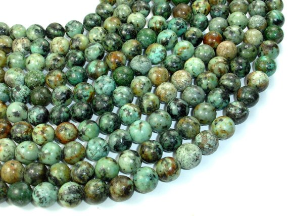 African Turquoise, Round, 10mm(10.5mm), 15.5 Inch