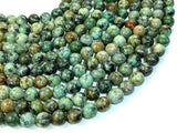African Turquoise, Round, 10mm(10.5mm), 15.5 Inch-BeadBasic