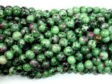 Ruby Zoisite Beads, 8mm(8.3mm) Round Beads, 15.5 Inch, Full strand