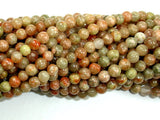 Chinese Unakite, Round beads, 4mm-BeadBasic