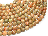 Chinese Unakite Beads, Round, 10mm (10.5 mm), 15.5 Inch