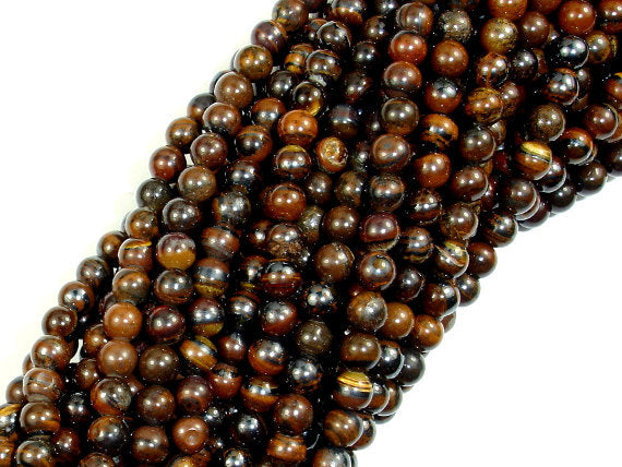 Tiger Iron, Round 4mm (4.4 mm) Round  Beads, 16 Inch, Full strand