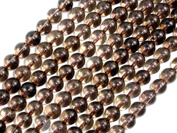 Smoky Quartz Beads, Round, 8mm(8.2mm), 15.5 Inch