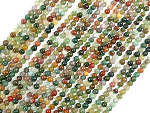 Indian Agate Beads, Fancy Jasper Beads, Round, 2mm-BeadBasic