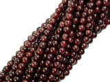 Red Garnet, Round, 5mm-BeadBasic