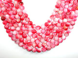 Dyed Jade Beads, Pink, Faceted Round, 10mm-BeadBasic