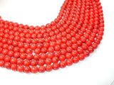 Red Howlite Beads, 10mm Round Beads-BeadBasic
