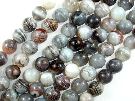 Botswana Agate Beads, 10mm Round Beads-BeadBasic