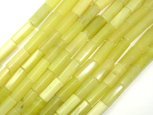 Olive Jade Beads, 6x14mm Hexagon Tube Beads-BeadBasic