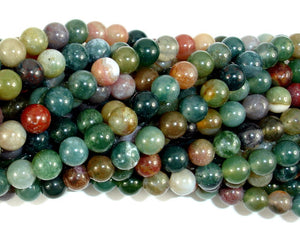 Indian Agate Beads, Fancy Jasper Beads, 6mm Round Beads-BeadBasic