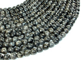 Black Labradorite Beads, Larvikite, 8mm(8.5mm) Round Beads-BeadBasic