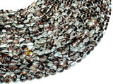 Black/ Clear/Gold Glass Beads, 6mm (6.5mm) Round Beads, 15.5 Inch, Full strand