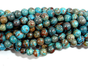 Blue Calsilica Jasper Beads, 4mm (4.3 mm), 15.5 Inch, Full strand