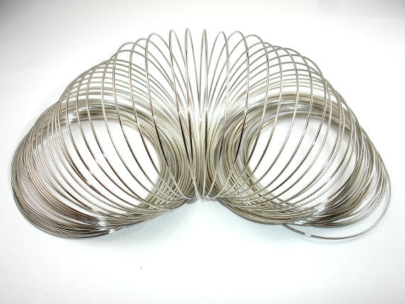 Memory Wire, Silver Tone, Bracelet Making, 55mm Diameter
