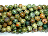 Rhyolite Beads, 8mm(8.5mm) Round Beads-BeadBasic