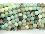 Matte Amazonite Beads, 6mm(6.6mm) Round Beads, 15 Inch, Full strand