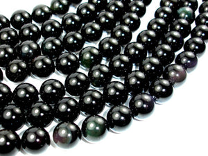 Rainbow Obsidian Beads, Round, 12mm-BeadBasic